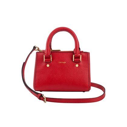 Mini Bardot Saffiano Vermelho - Cavage | Loja Online