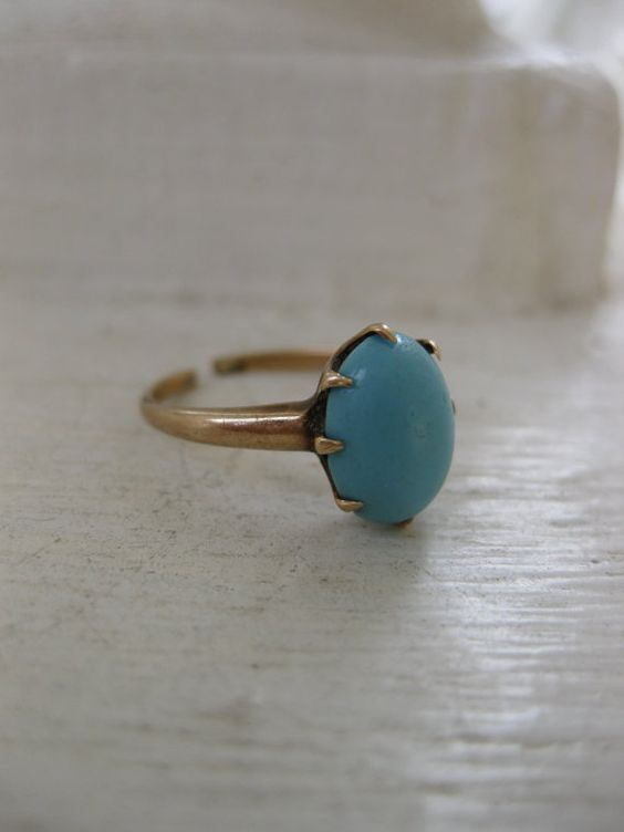 Victorian 10K Persian Turquoise Ring by TheWildRoad on Etsy