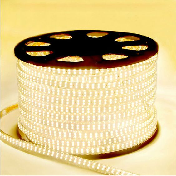 SMD5050 Dual Row High Voltage 110&220V RGB LED Strips, Waterproof IP67, 120LEDs Per Meter, 50&100 Meter (164&328ft) Per Reel By Sale