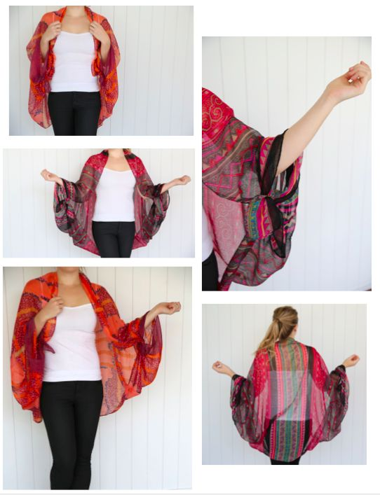 how to make a kimono from a scarf