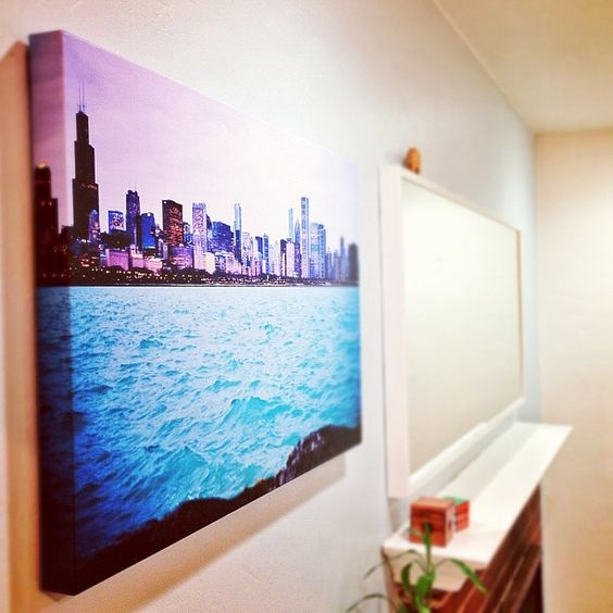 """Latest 30x20"""" canvas with 1"""" wrap came today. This is a shot of Chicago when I was there shooting sarah and kiely's engagement.  View the full photo (also for sale) here: http://500px.com/photo/3861528"""
