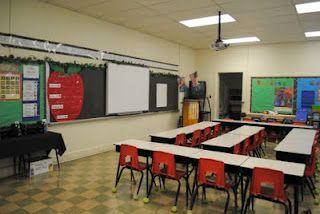 desks in rows facing forward and inward classroom set up desk