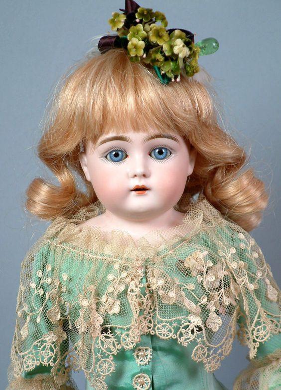 "SPLENDID 16"" EARLY ""LETTER"" Kestner Antique Lady Doll w/BABY BLUE SLEEP EYES! E"