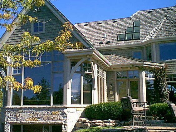 Midwest Living Magazine Idea House Gable View Mequon  WI    House Ideas  Doors Windows  Door County  House Harbor  Idea House  House Plans  Midwest Living