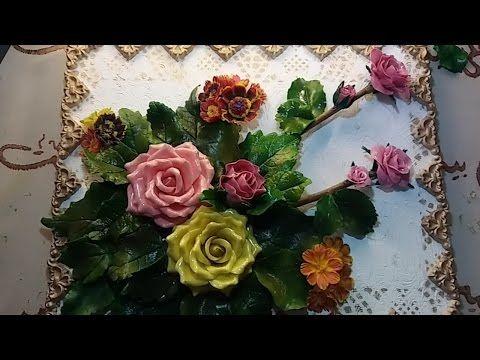 ابداعات يدوية طابلوه او لوحة فنية بورد من السيراميك على أغصان الشجر Youtube Floral Wreath Floral Polymer Clay
