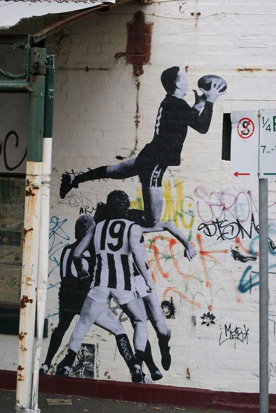 Street art in Pigdon Street, Carlton.  Event reference..