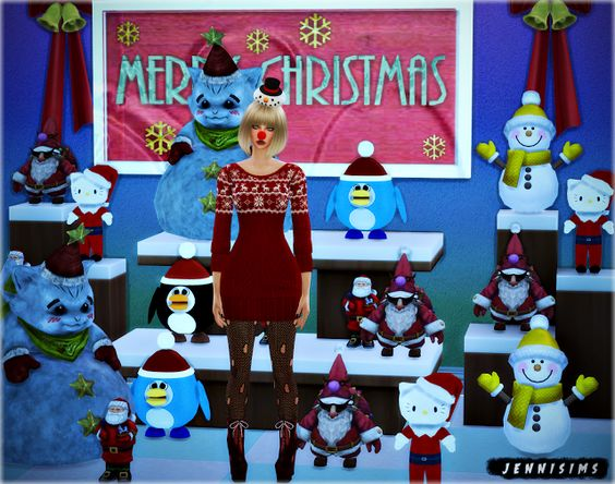 Sims 4 CC's - The Best: Christmas Decor by JenniSims