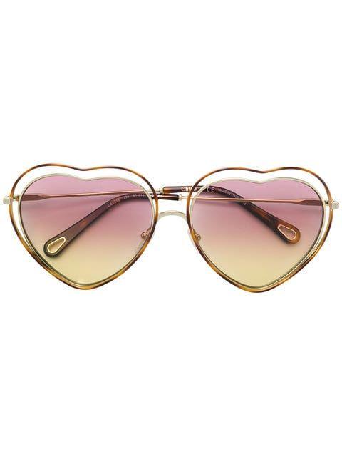 Shoppen Chloe Eyewear Sonnenbrille In Herzform Sonnenbrille