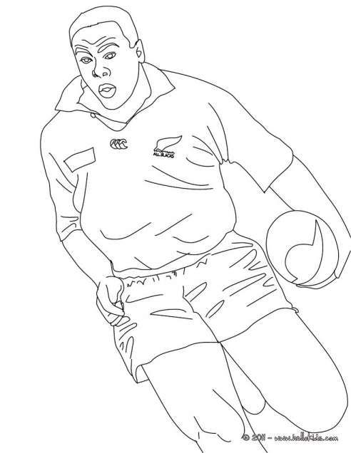 Drawings Of Rugby Players And Jonah Lomu Rugby Player Coloring Pages Hellokids Rugby Players Jonah Lomu Rugby