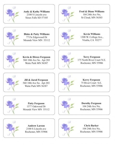 Guest Address Labels For Wedding Invitations Addressing Wedding Invitations Wedding Invitation Envelopes Address Address Label Template
