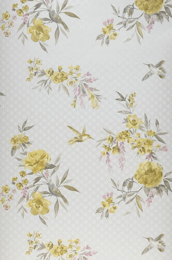 Sandrine | Floral wallpaper | Wallpaper patterns | Wallpaper from the 70s