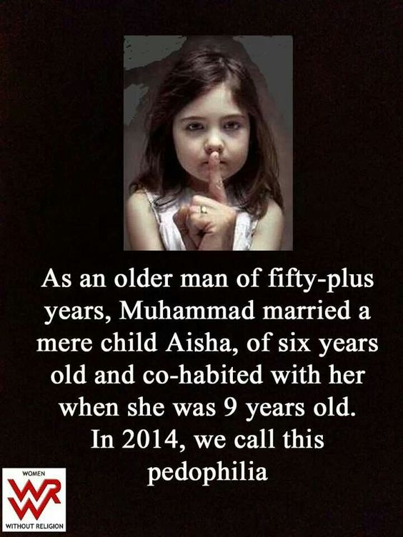 Mohammed was a liar, an old man and someone who raped a child?