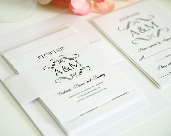 love it with the initials or a monogram over the invite/stationary