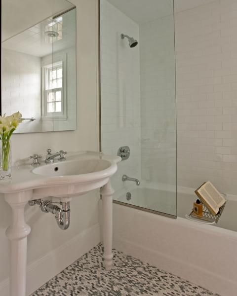 Idea For Bathtub In Lieu Of A Shower Curtian For The