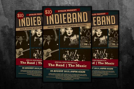 20+ Band Flyer Template PSD for Event, Concert and Live Music 20 - band flyer template
