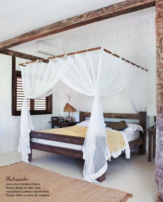 camas de casal com mosquiteiro - Pesquisa Google