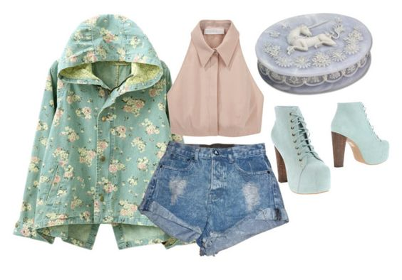 """""""Untitled #140"""" by nutjobforfashion ❤ liked on Polyvore featuring One Teaspoon, Cacharel and Jeffrey Campbell"""