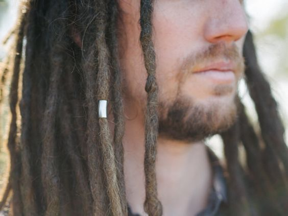 2 Stainless Steel Tube 6.5mm Hole Dreadlock Bead Dread beads locs (Hole size…