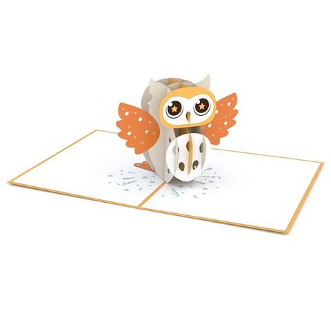 Party Owl Pop Up Card Greeting Card Lovepop Owl Templates Pop Up Cards Butterfly Template