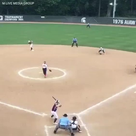 This Is A Sick Triple Play But Watch The Coach Xtreme Softball Bilzerian In 2020 Softball Pitcher Softball Problems Softball Pictures