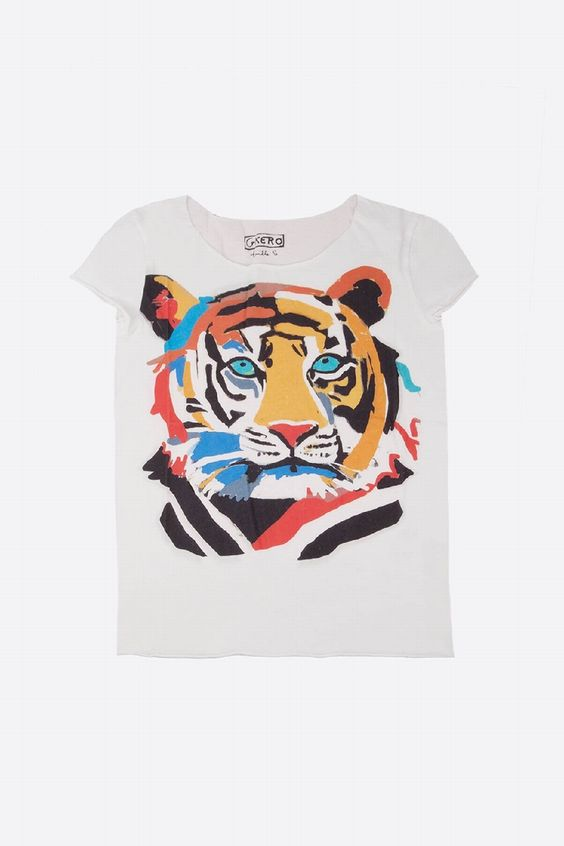 GKERO - FUNKY TIGER TEE-SHIRT   CENTRE COMMERCIAL