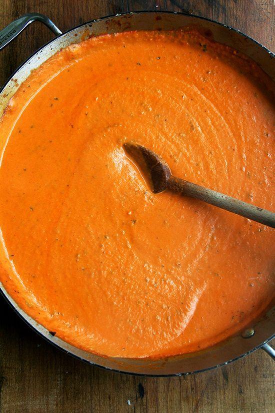 so good! and makes enough to freeze some too! >> Ina Garten's Pasta Alla Vecchia Bettola