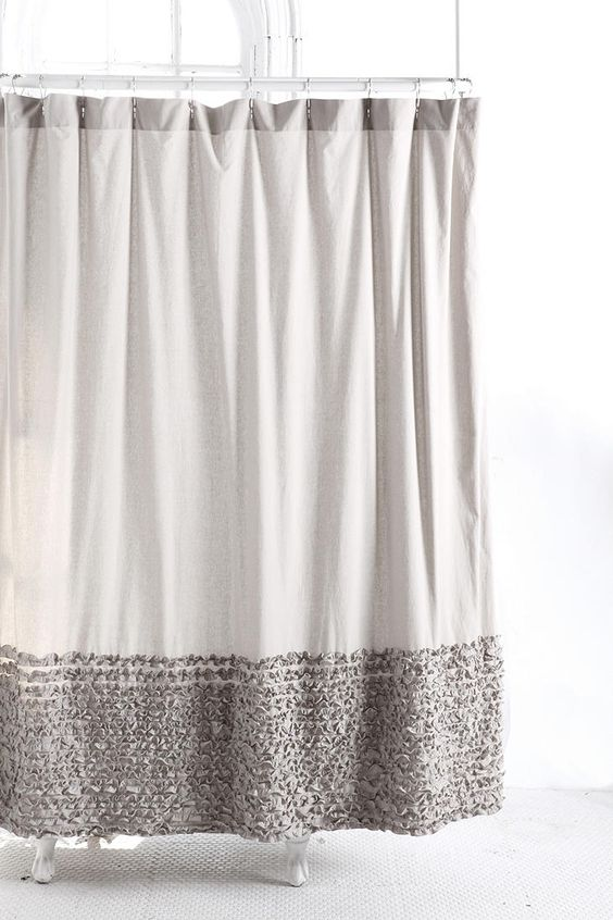 Bloomer Ruffle Shower Curtain Urban Outfitters Ruffle Shower Curtains And Curtain Ideas