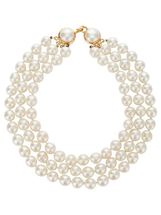 Chanel Vintage Chanel Pearl Necklace - Rewind Vintage Affairs - farfetch.com