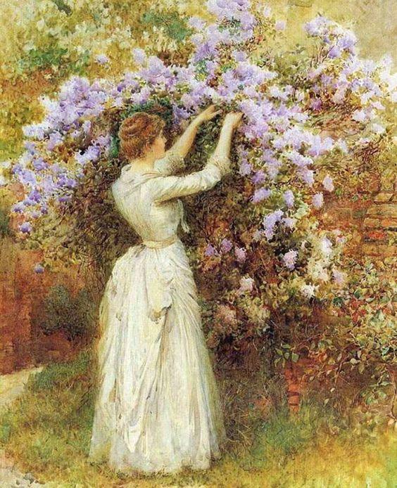 Gathering Flowers | Arthur Hopkins | Oil Painting