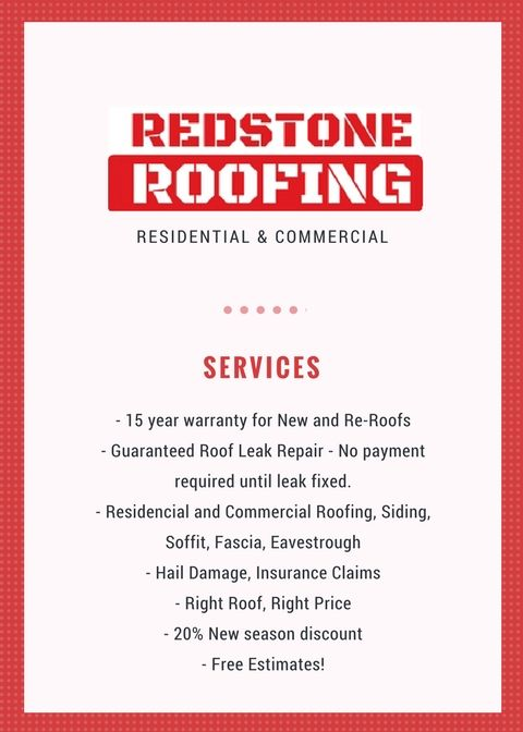 Redstone Roofing Inc Brings To You A Whole Range Of Commercial