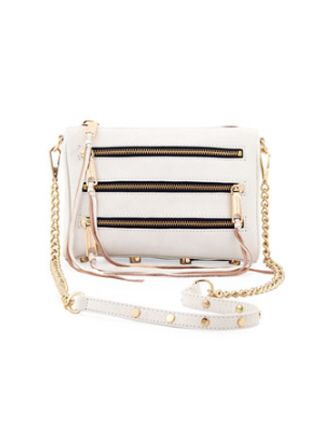 REBECCA MINKOFF Five-Zip Mini Crossbody Bag! Just got this with rose gold