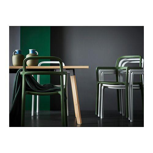 Tavolo Con Sedie Da Esterno Ikea.Ypperlig Sedia Con Braccioli Interno Esterno Grigio Chiaro
