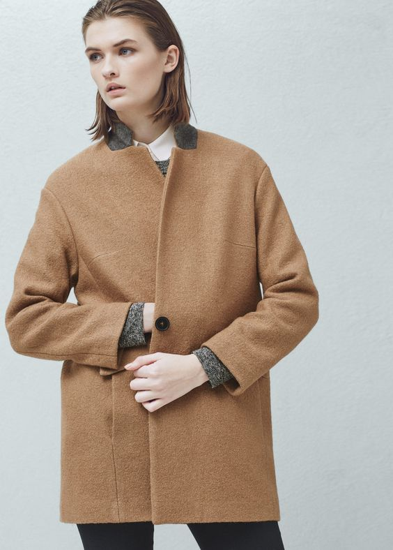 Cocoon wool-blend coat | Coats Woman clothing and Clothing