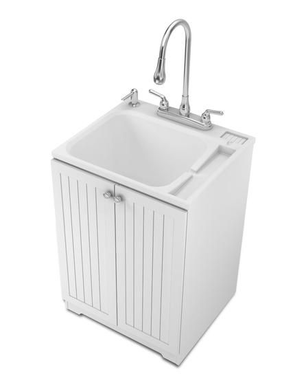 Presenza Deluxe Utility Sink And Storage Cabinet : Laundry Utility Tubs At Home Depot