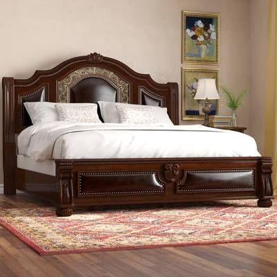 Fletcher Standard Bed Upholstered Platform Bed Wooden Bed