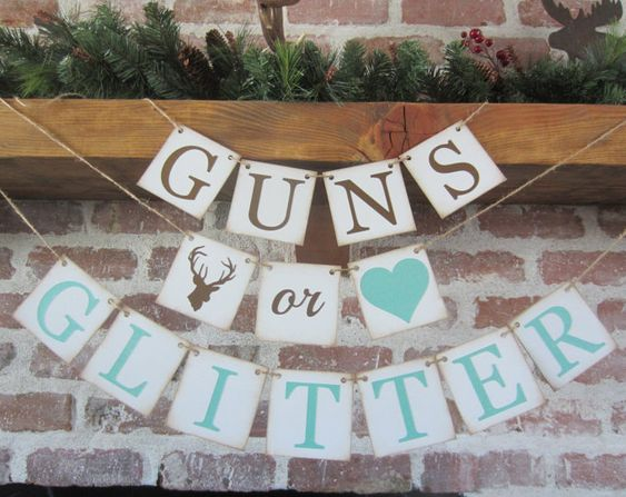 GUNS or GLITTER Country Gender Reveal Theme