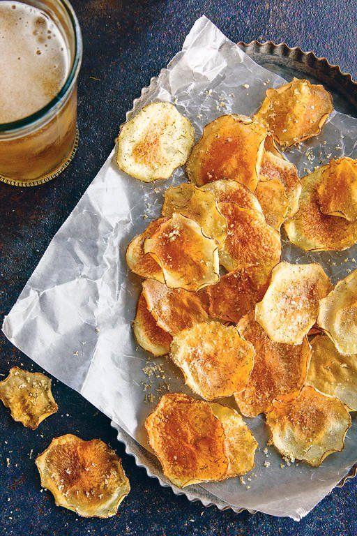 Sour Cream Onion Potato Chips Recipe In 2020 Creamed Onions Snacks Potato Chips