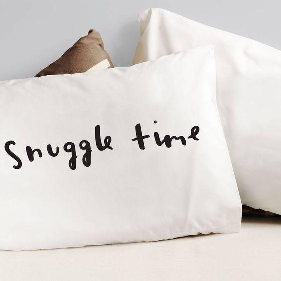 'Snuggle Time' Pillow Cases   notonthehighstreet.com