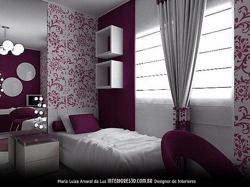 Quarto de Menina Interiores 3D Design de Interiores  ~ Vinil Quarto Jovem