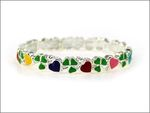 SHAMROCK & HEARTS CHILDS STRETCH BANGLE