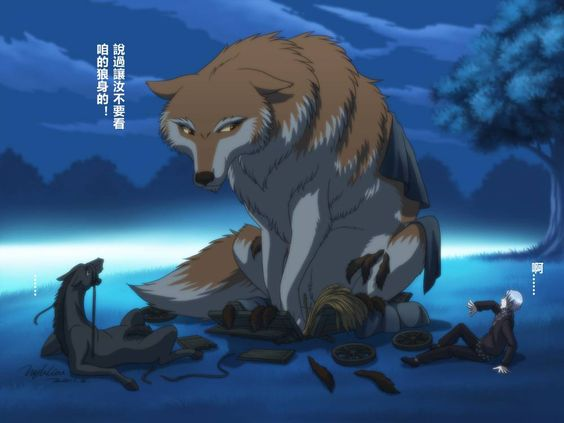 Holo in wolf form :) | Spice and Wolf | Pinterest | Wolf, Anime ...