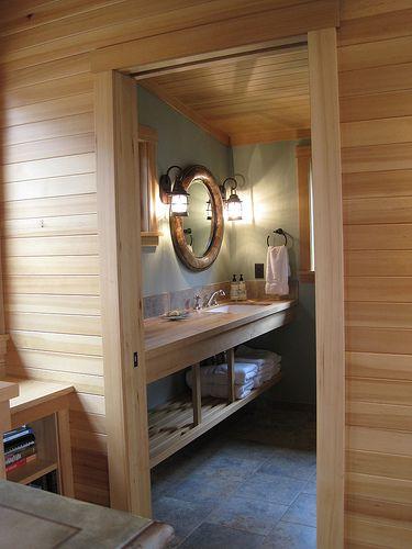 natural wood plank walls