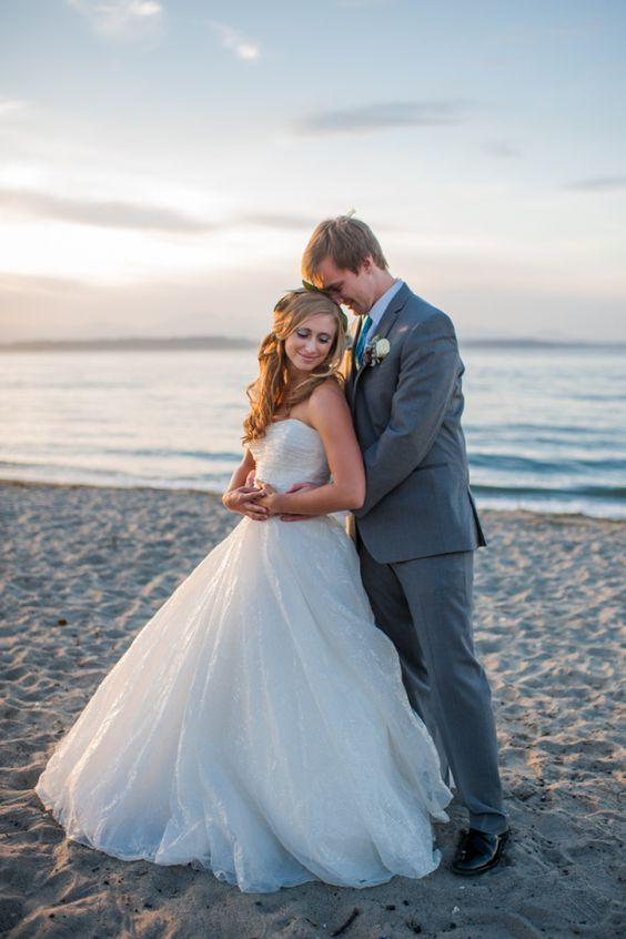 Real Wedding: Katie and Josh's Beach Elopement by Barrie Anne Photography - WeddingLovely Blog