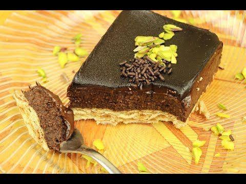 اروع حلى بارد بالشوكولاته بدون بيض ولا فرن حلويات باردة سهلة وسريعة مع نسرين Youtube Food Desserts Cake