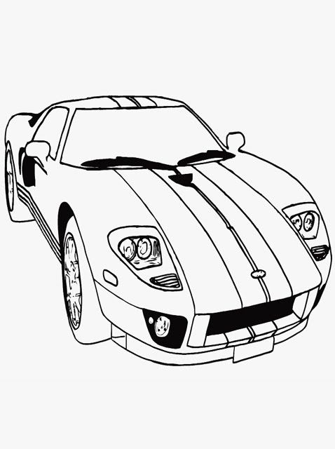 Simple Car Coloring Pages Printable 11 Image Cars Coloring Pages