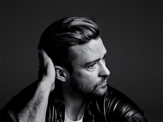 Justin Timberlake lensed by Hedi Slimane and styled by Sarah Richardson with pieces from Dolce & Gabbana, Hermès, Bottega Veneta and Saint Laurent by Hedi Slimane, for the cover story of The New York Times' T Magazine.