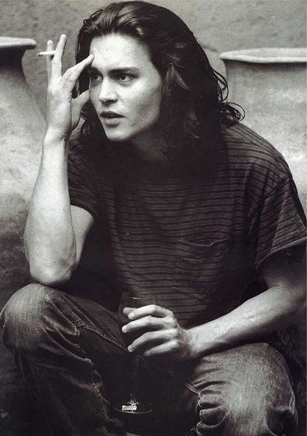Stupendous Men Long Hair Chang39E 3 And Young Johnny Depp On Pinterest Short Hairstyles Gunalazisus