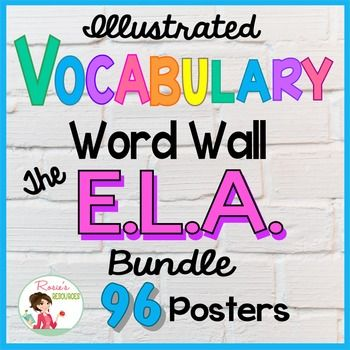 Word Wall Vocabulary Posters for ELA Grades 3, 4, and 5 ...