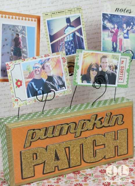 Make a Wood Block Photo Holder using Mod Podge, Paper & Wire  #ModPodge