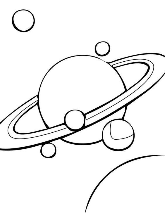 Disegno Di Saturno Pianeti Disegni Colori